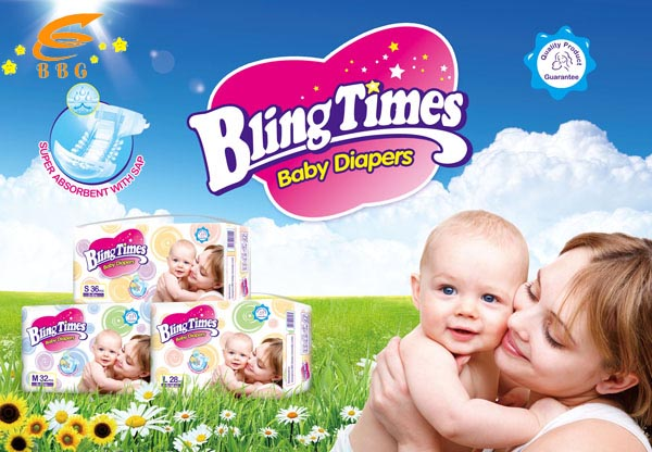 Blingtimes disposable baby diapers china