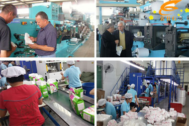 baby diapers production line