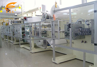 under pad production line