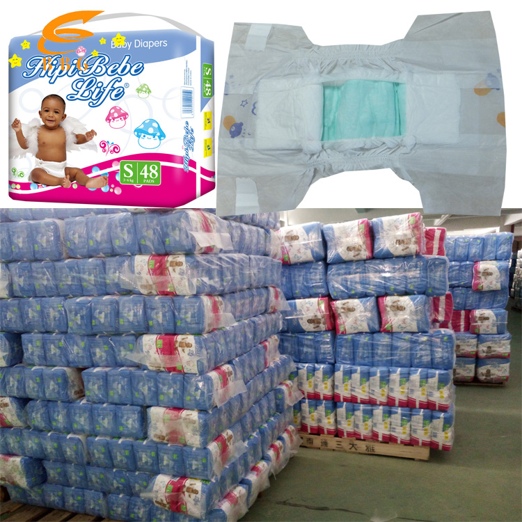 Loading 3*40HQ Newest Soft Baby Diapers