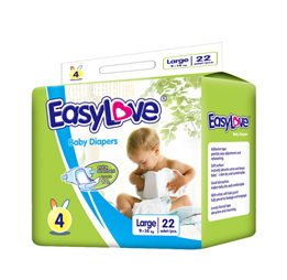 Easy Love Plastic Backed Baby Diapers