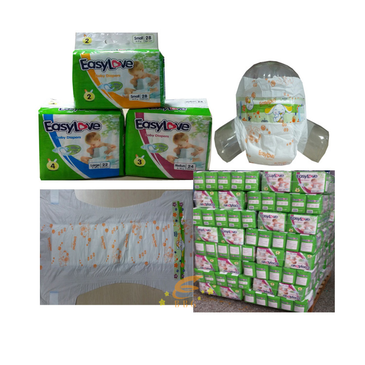 Guangzhou factory hot sale disposable sleepy pampers diaper in bales