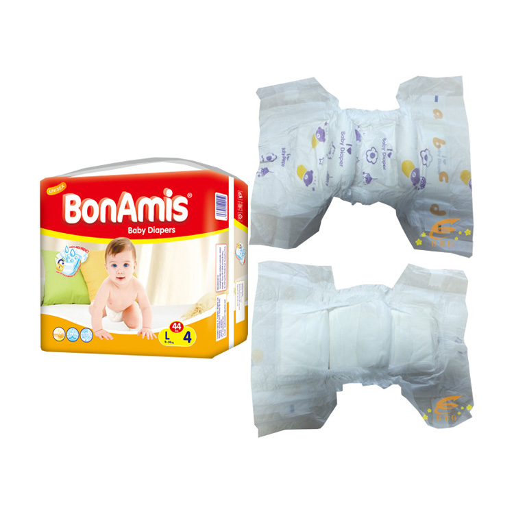 Disposable nonwoven baby nappy pampers quality manufacturer in China