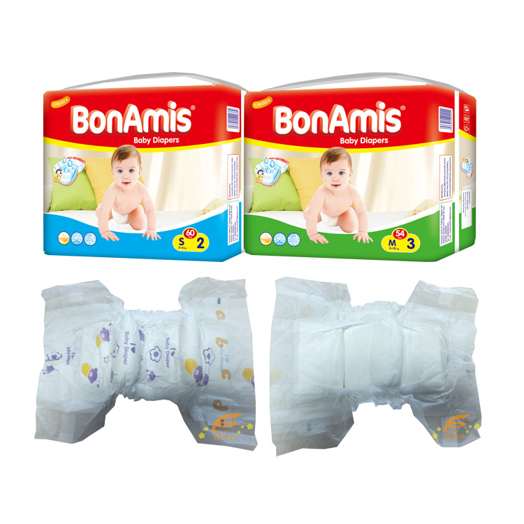 2016 Hot sell  Guangzhou high absorption hunggies disposable Bonamis baby diaper