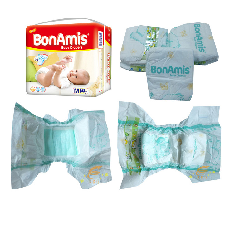 Free samples baby pampers  nice quality disposable baby diapers in wholesale price