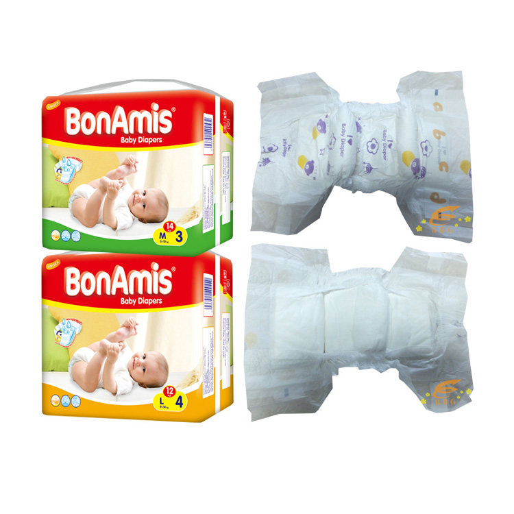 Super soft sleepy baby diaper made in China huggies quality baby diaper in stocks