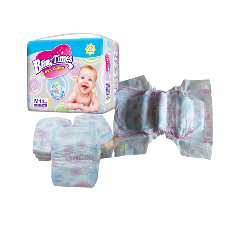 High quality Bling Times pampers competitive price disposable baby diaper manufacturer from China