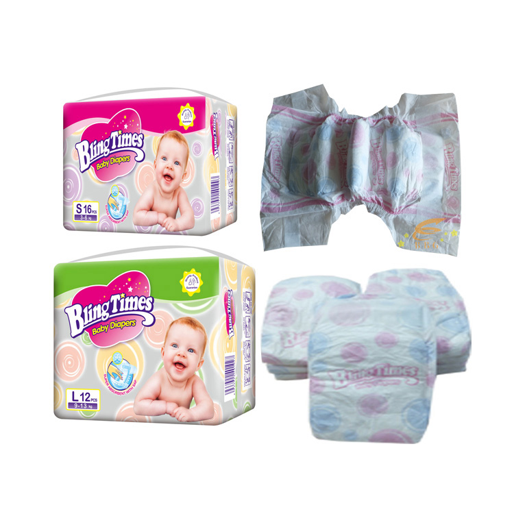 Super soft pampers breathable non woven disposable baby diaper manufacturer in China