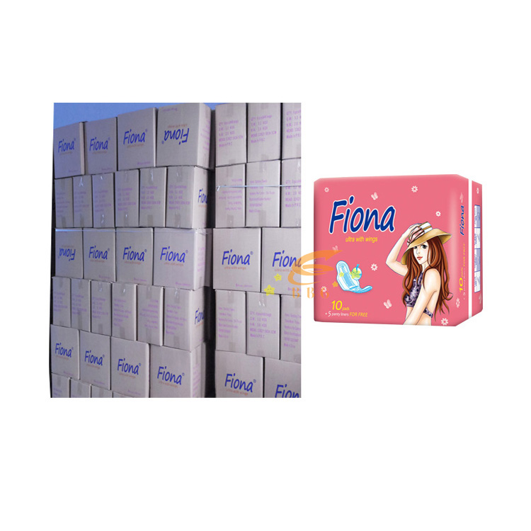 Newest Fiona brand name Anion sanitary napkin manufacturer in stocklots