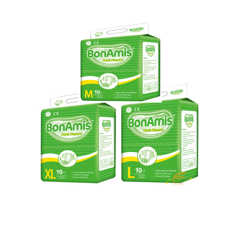 Disposable absorbent bed sheet adult diaper bonamis with free adult diaper sample
