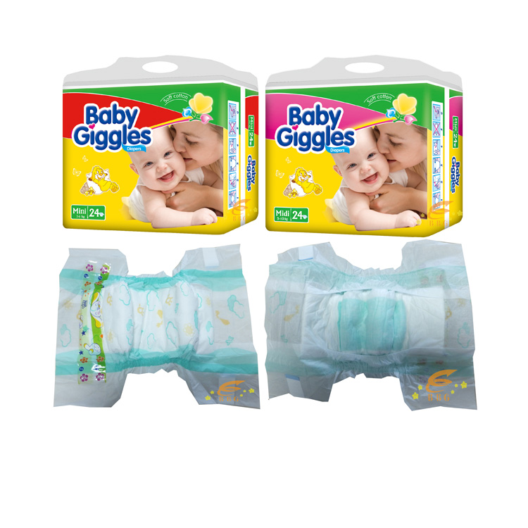 2016 Hot Sell Disposable Baby Giggles Diapers made in China