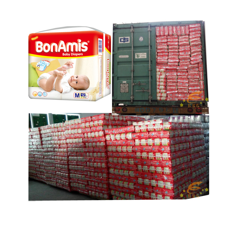 High absorption nice baby diaper factory BonAmis baby pampers in stocklots