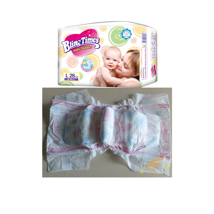 Best selling baby diaper Bling Times super soft baby diaper factory exporting pampers
