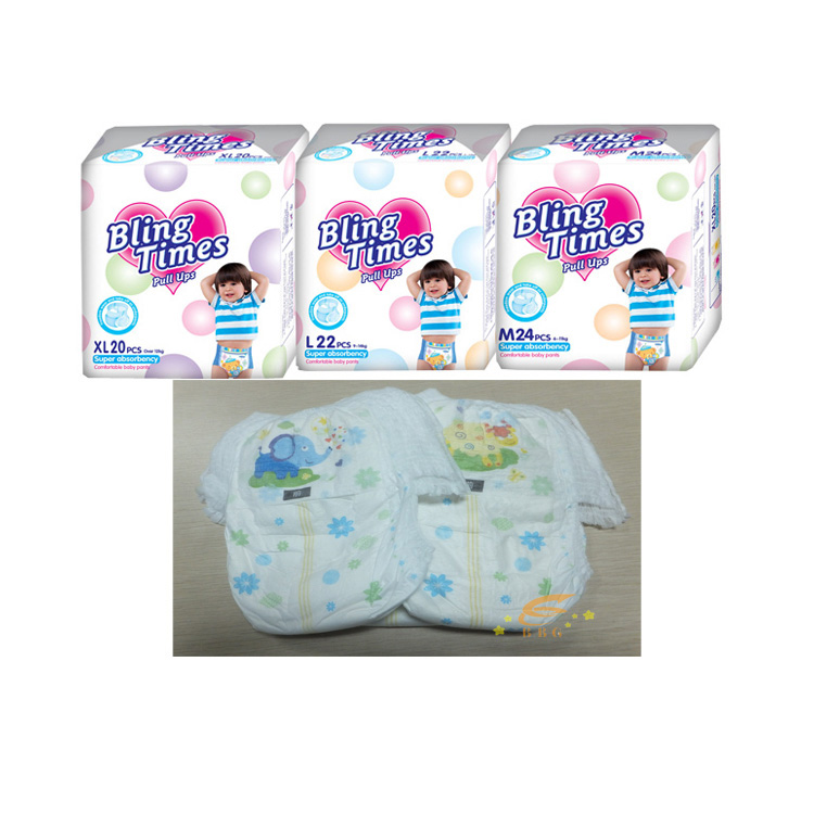 Dry surface training baby fine pants diaper for sale