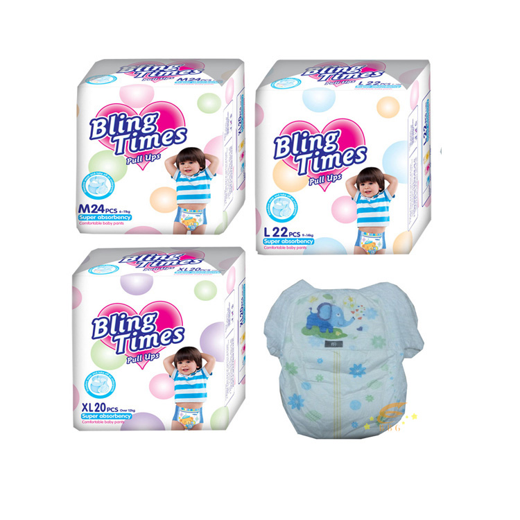 China wholesale new products good quality baby diaper , wholesale disposable diaper pull ups