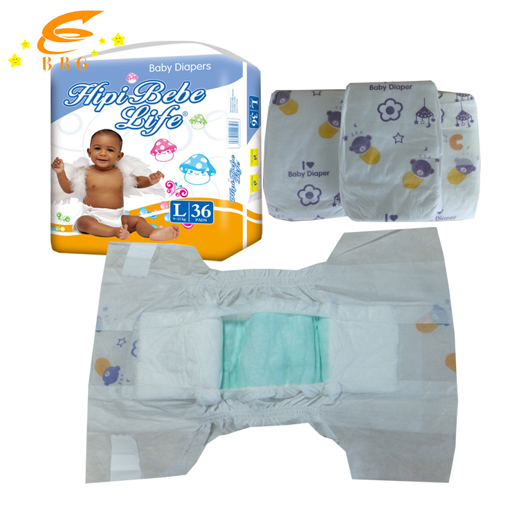 Hipi Bebe life pampering disposable diapers for baby; soft baby diaeprs made in China